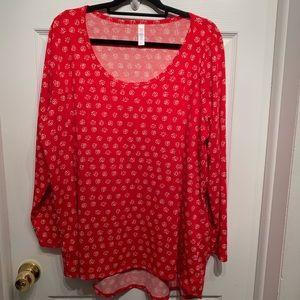 Lularoe Lynnae 3xl Red White Dot